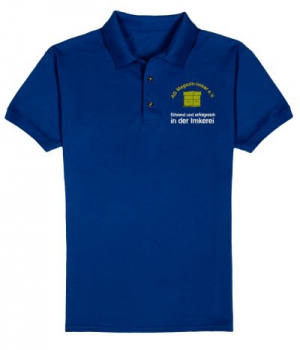 Polohemden für Herren in Royalblue